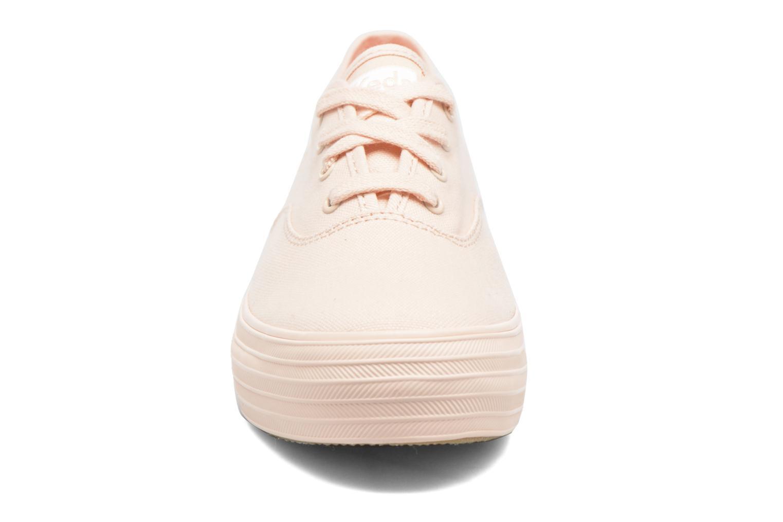 Baskets Keds Triple Mono Rose vue portées chaussures