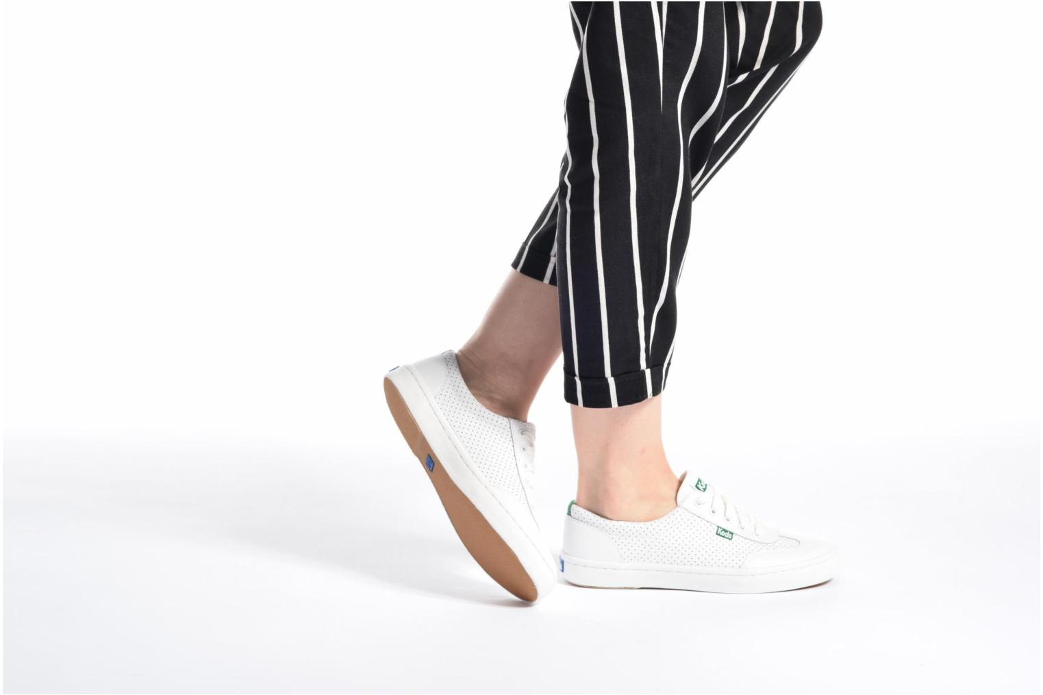 Sneakers Keds Tournament Perf Bianco immagine dal basso