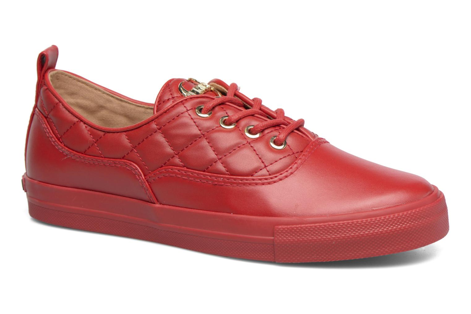 Sneakers Love Moschino Superquilted Sneaker Rood detail
