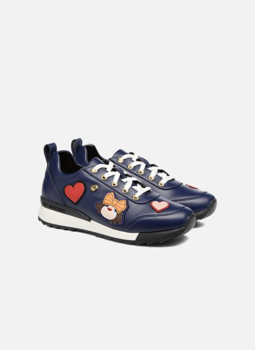 Deportivas Love Moschino Charming Sneaker Azul vista 3/4