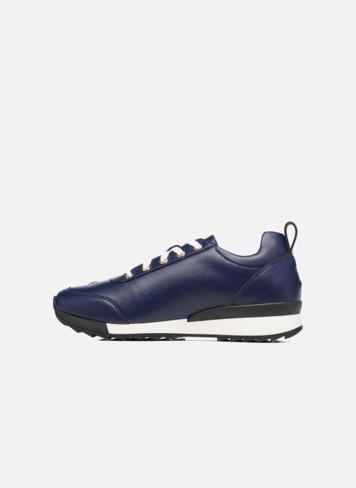 Deportivas Love Moschino Charming Sneaker Azul vista de frente