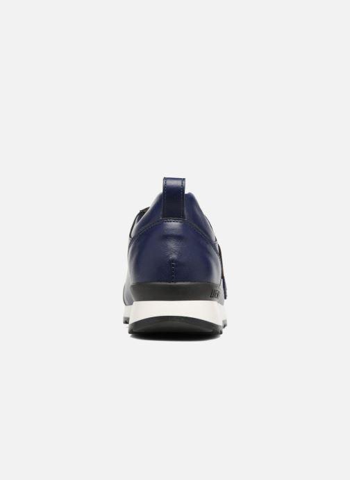 Deportivas Love Moschino Charming Sneaker Azul vista lateral derecha