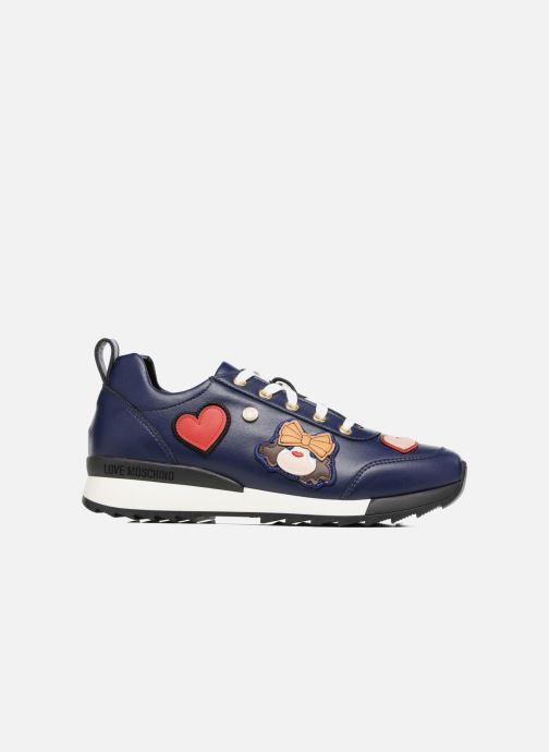 Deportivas Love Moschino Charming Sneaker Azul vistra trasera