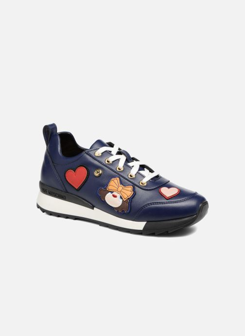 Deportivas Love Moschino Charming Sneaker Azul vista de detalle / par