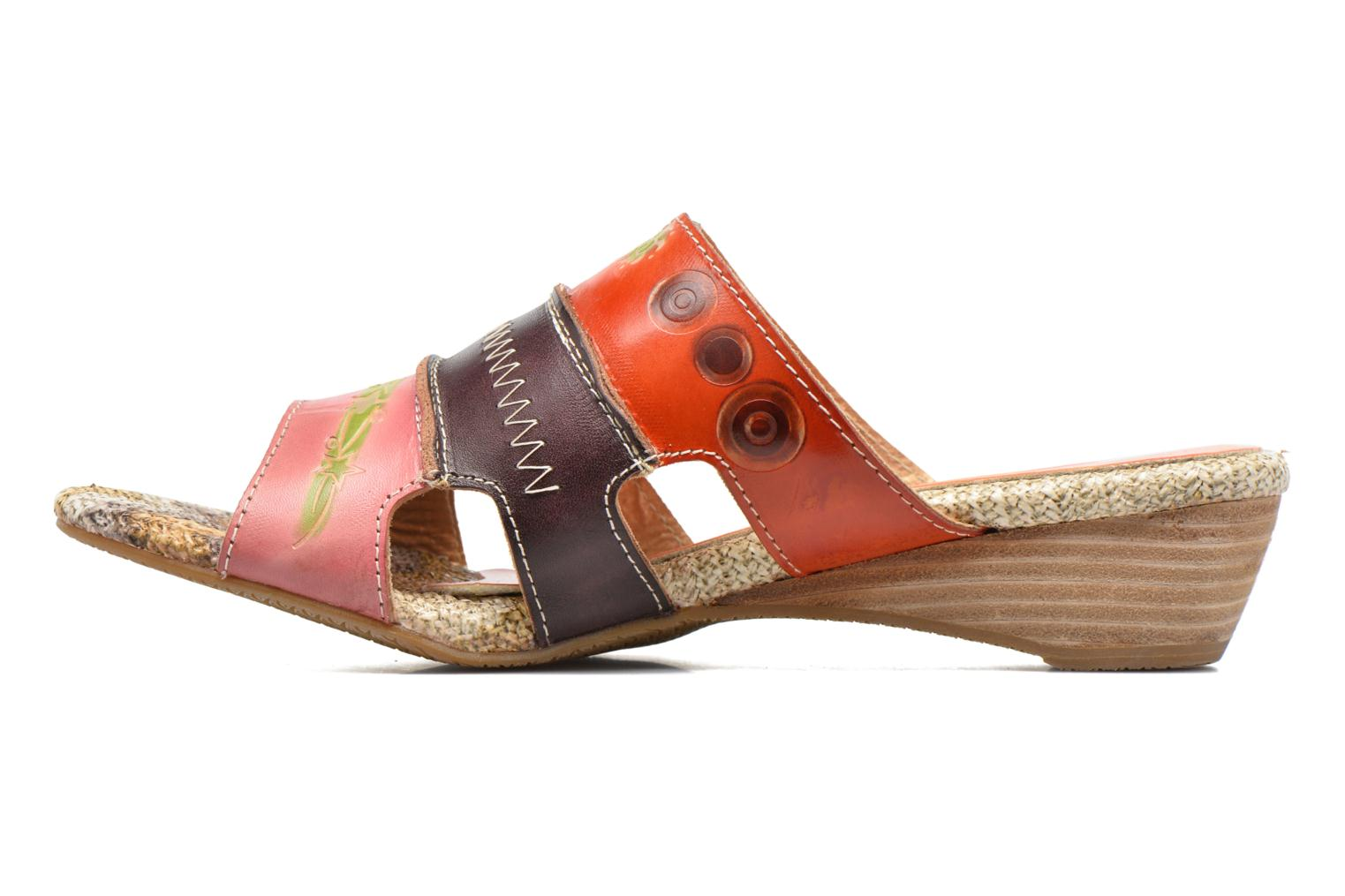 Mules et sabots Laura Vita Peb Orange vue face