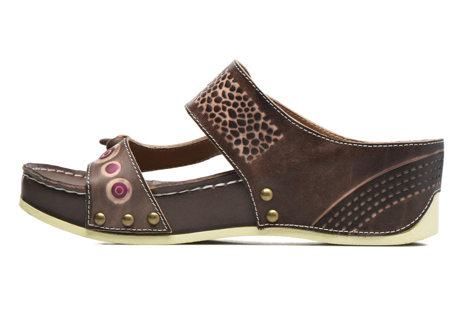 Mules & clogs Laura Vita Scenic Brown front view