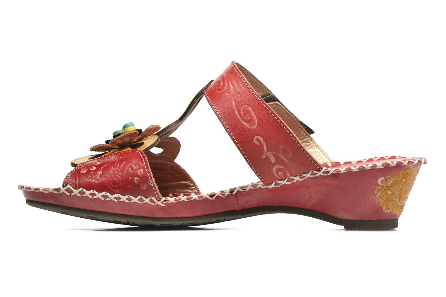 Mules et sabots Laura Vita Scotch Rouge vue face
