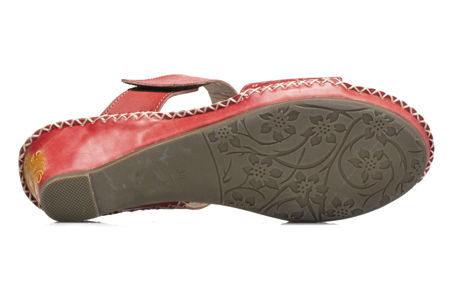 Mules & clogs Laura Vita Scotch Red view from above