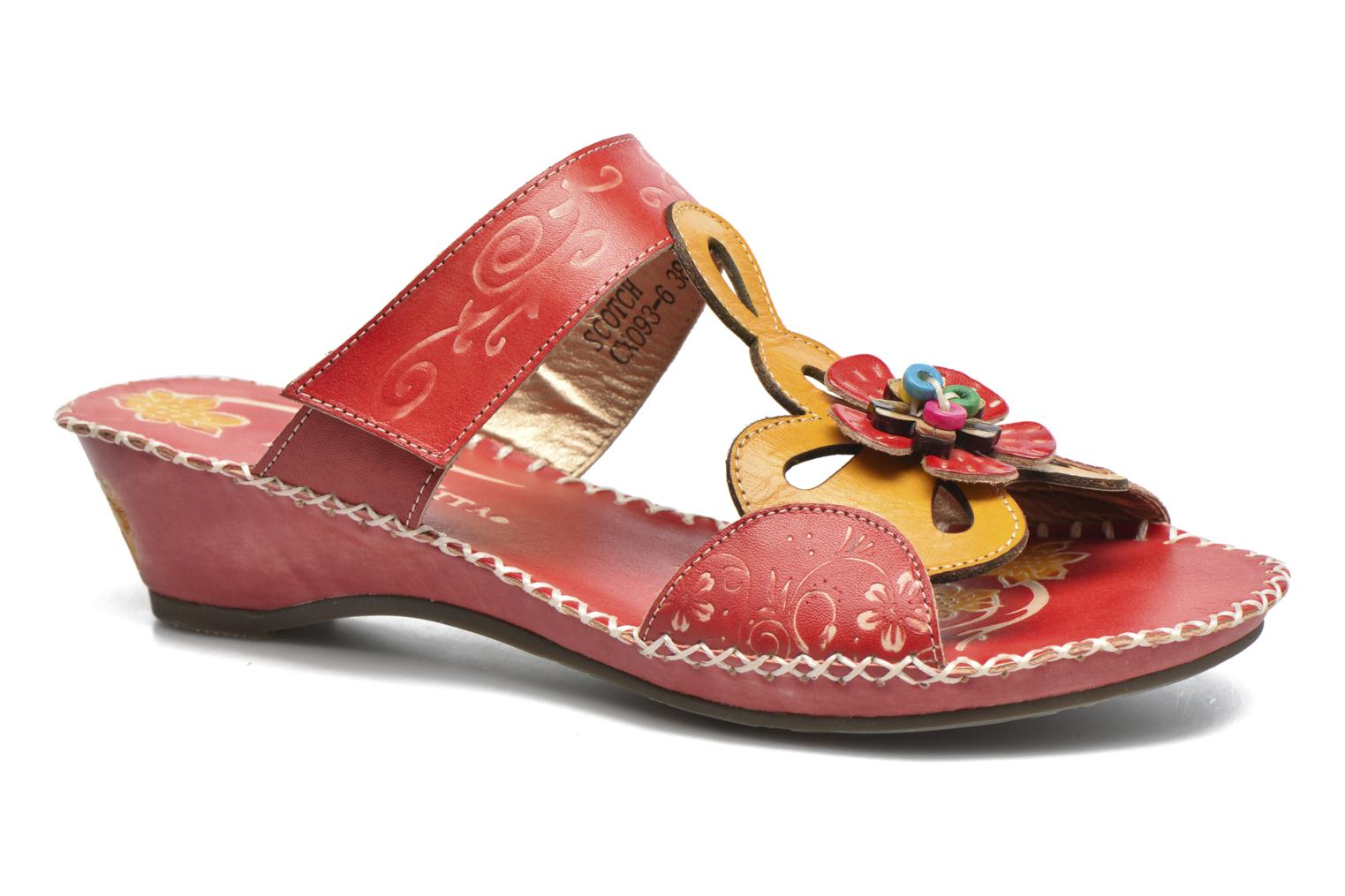 Mules & clogs Laura Vita Scotch Red detailed view/ Pair view