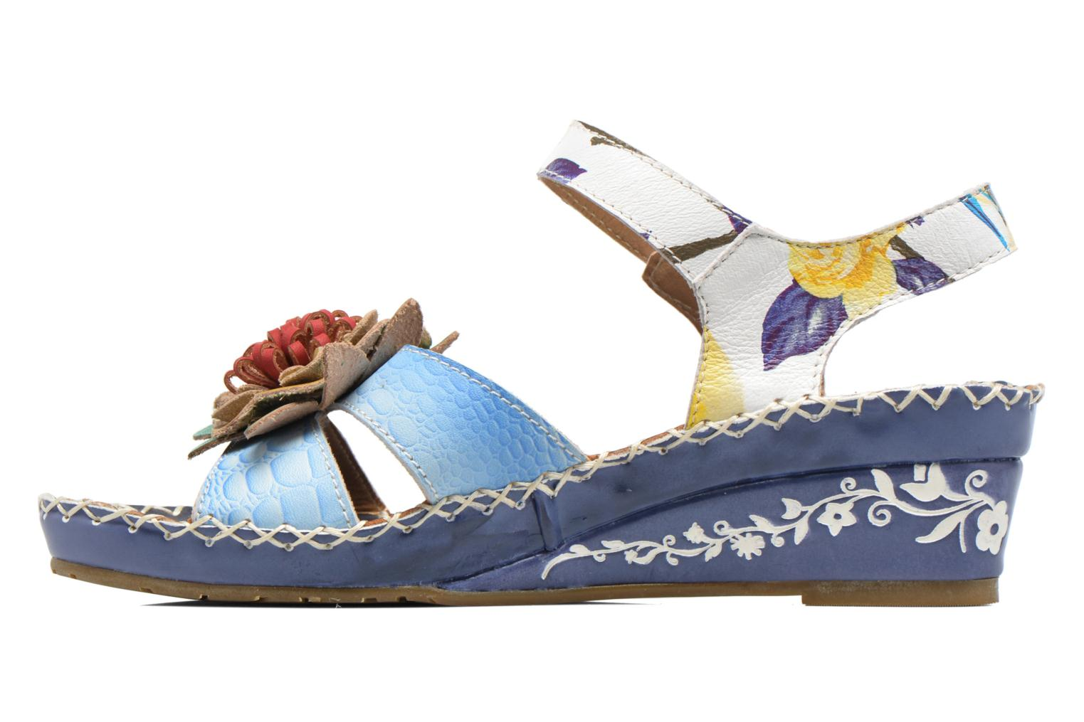 Sandals Laura Vita Valmon Blue front view