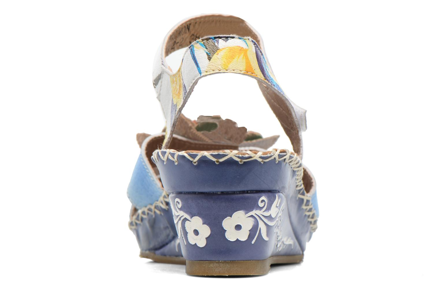 Sandals Laura Vita Valmon Blue view from the right