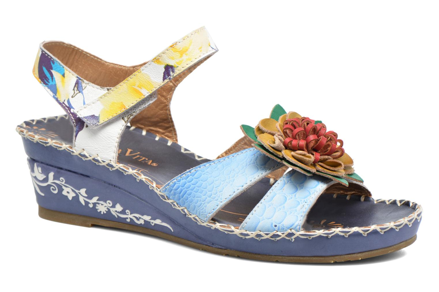 Sandals Laura Vita Valmon Blue detailed view/ Pair view