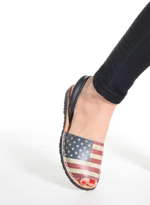 Sandales et nu-pieds Laura Vita Sofie Multicolore vue bas / vue portée sac