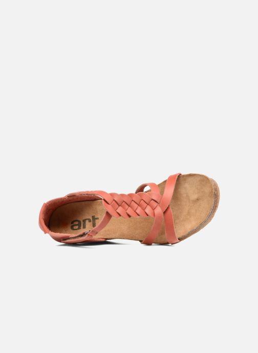 Sandales et nu-pieds Art Valby 438 Rouge vue gauche