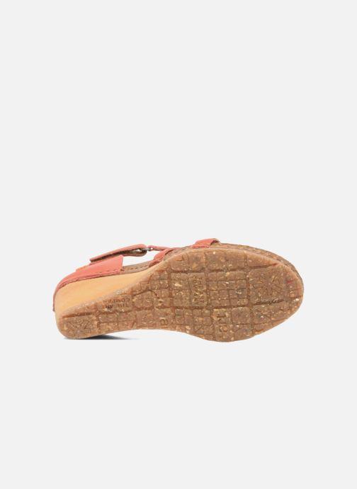 Sandales et nu-pieds Art Valby 438 Rouge vue haut