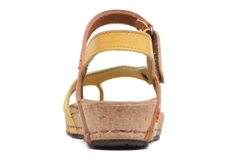 Sandales et nu-pieds Art Pompei 737 Jaune vue droite