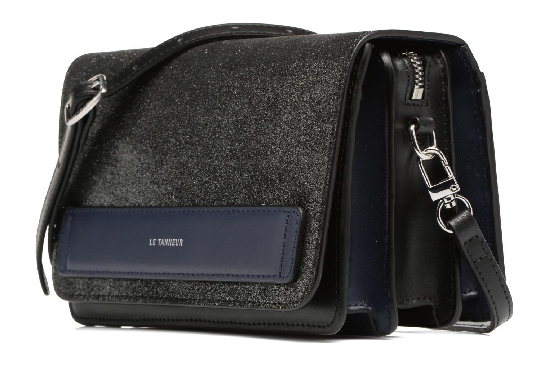 Handtaschen Le Tanneur Porté croisé Coquette TPM 3 soufflets glitter anti RFID schwarz schuhe getragen