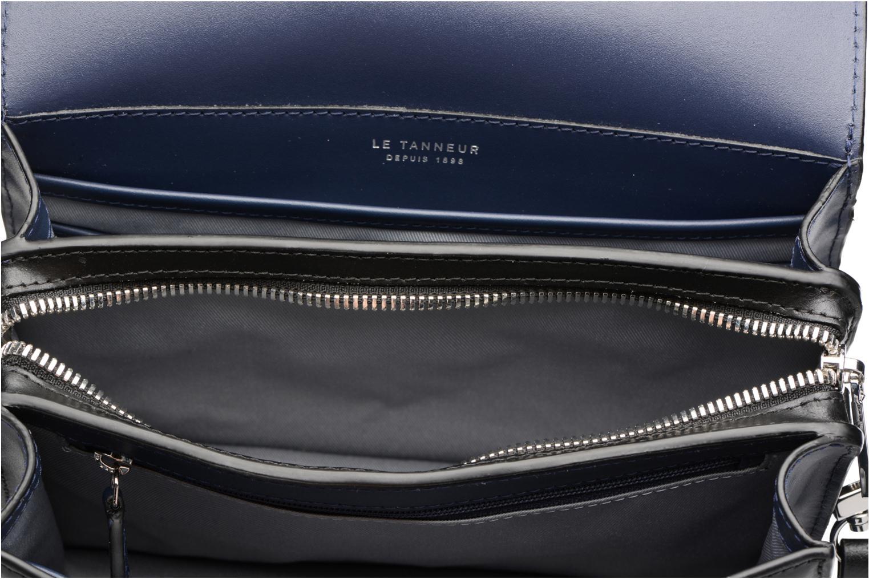 Handtaschen Le Tanneur Porté croisé Coquette TPM 3 soufflets glitter anti RFID schwarz ansicht von hinten