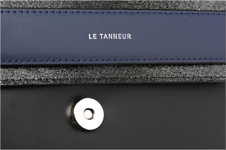 Handtaschen Le Tanneur Porté croisé Coquette TPM 3 soufflets glitter anti RFID schwarz ansicht von links
