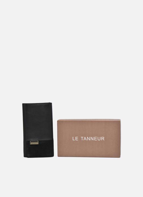 Kleine lederwaren Le Tanneur Porte monnaie Mila long Zwart detail