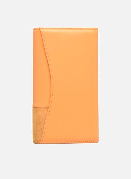 Wallets & cases Le Tanneur Porte monnaie Mila long Yellow front view