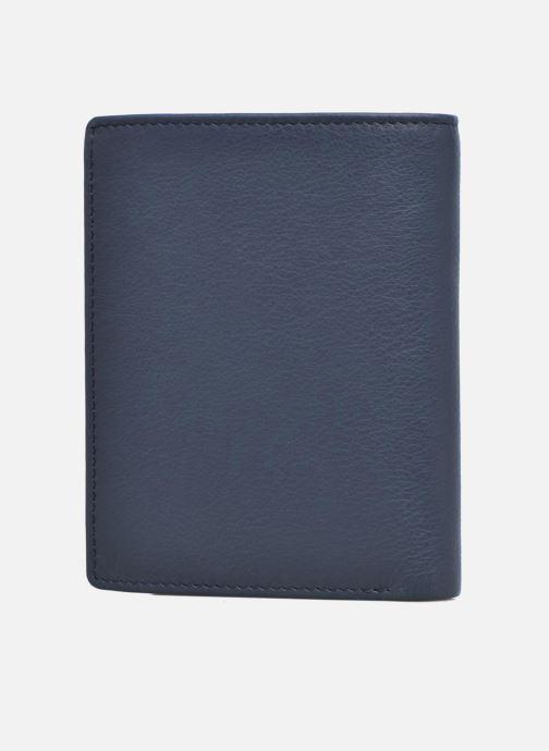 Pelletteria Le Tanneur Portefeuille billets Mrs cc monnaie zippé 4 volets Azzurro modello indossato