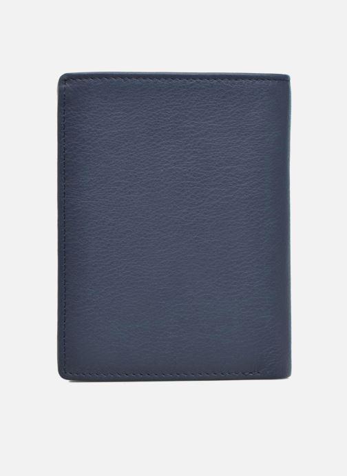 Petite Maroquinerie Le Tanneur Portefeuille billets Mrs cc monnaie zippé 4 volets Bleu vue droite