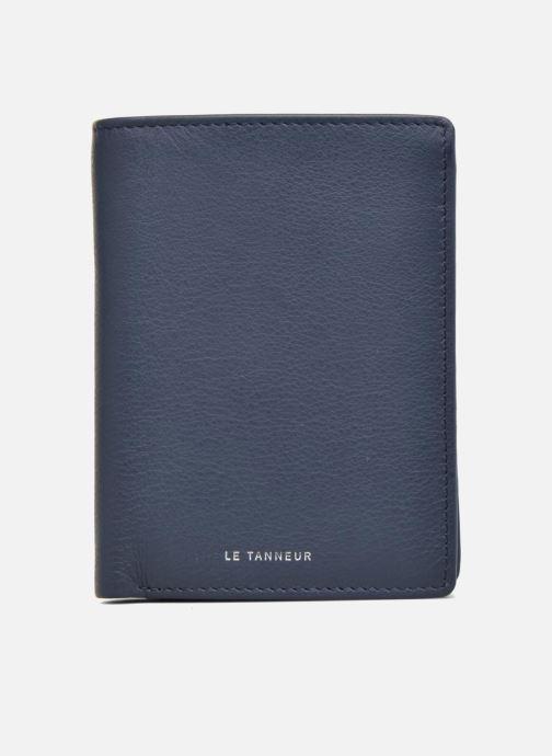 Petite Maroquinerie Le Tanneur Portefeuille billets Mrs cc monnaie zippé 4 volets Bleu vue gauche