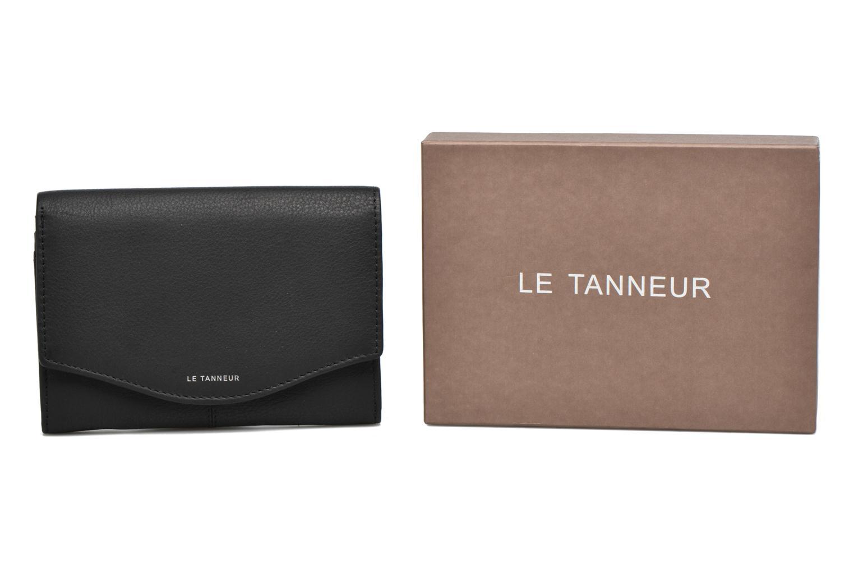Petite Maroquinerie Le Tanneur Porte monnaie Valentine rabat 4cc Noir vue détail/paire