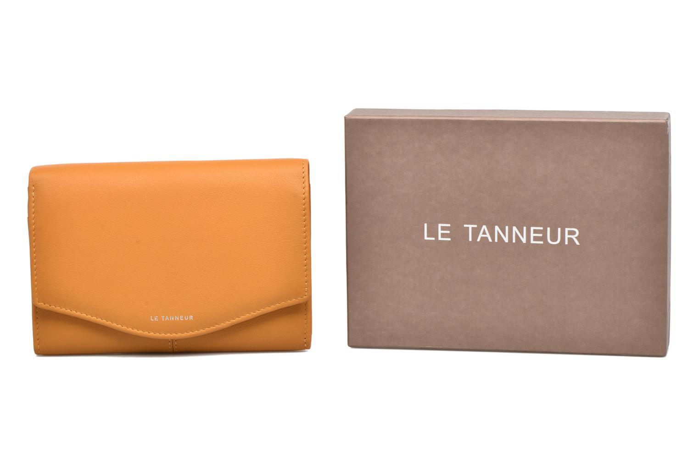 Petite Maroquinerie Le Tanneur Porte monnaie Valentine rabat 4cc Jaune vue détail/paire