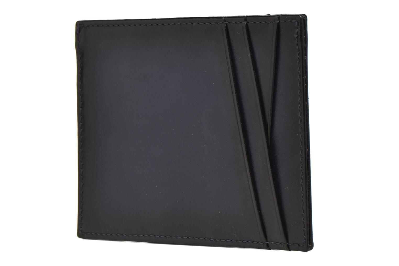 Kleine lederwaren Le Tanneur Porte papiers Corentin 4 poches 5cc anti RFID Blauw links