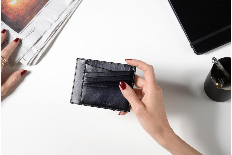 Kleine lederwaren Le Tanneur Porte papiers Corentin 4 poches 5cc anti RFID Blauw boven