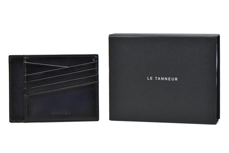 Kleine lederwaren Le Tanneur Porte papiers Corentin 4 poches 5cc anti RFID Blauw detail