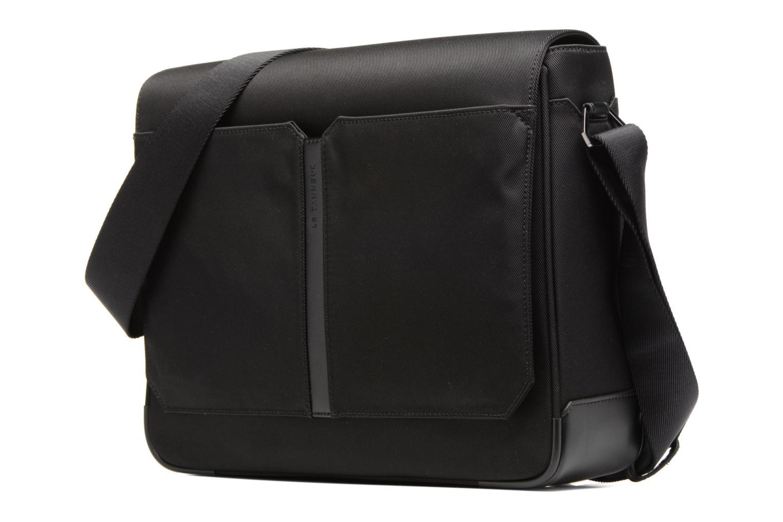 Herrentaschen Le Tanneur Messenger Cuir Audacieux schwarz schuhe getragen