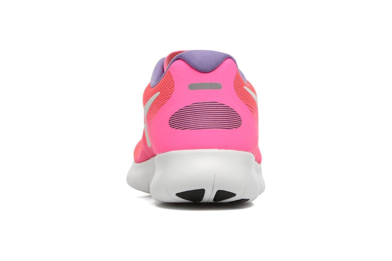Chaussures de sport Nike Wmns Nike Free Rn 2017 Rose vue droite