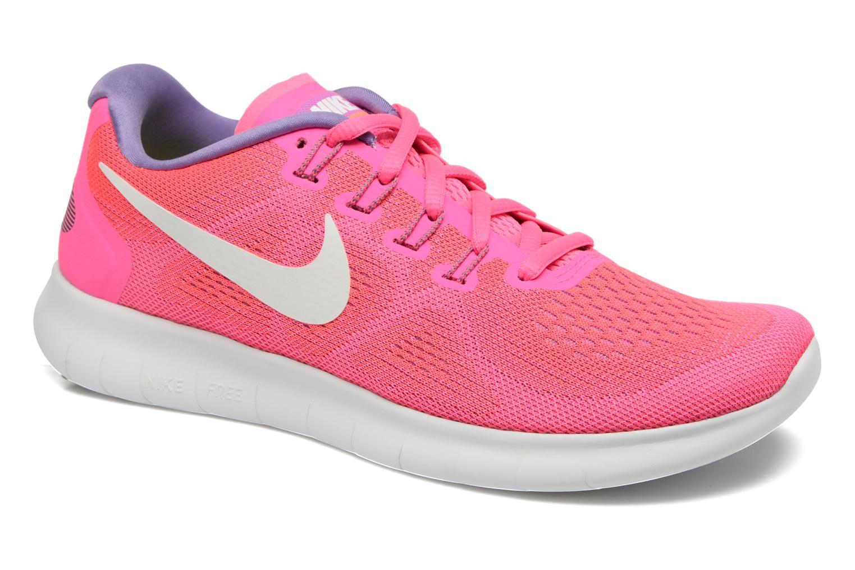 Chaussures de sport Nike Wmns Nike Free Rn 2017 Rose vue détail/paire