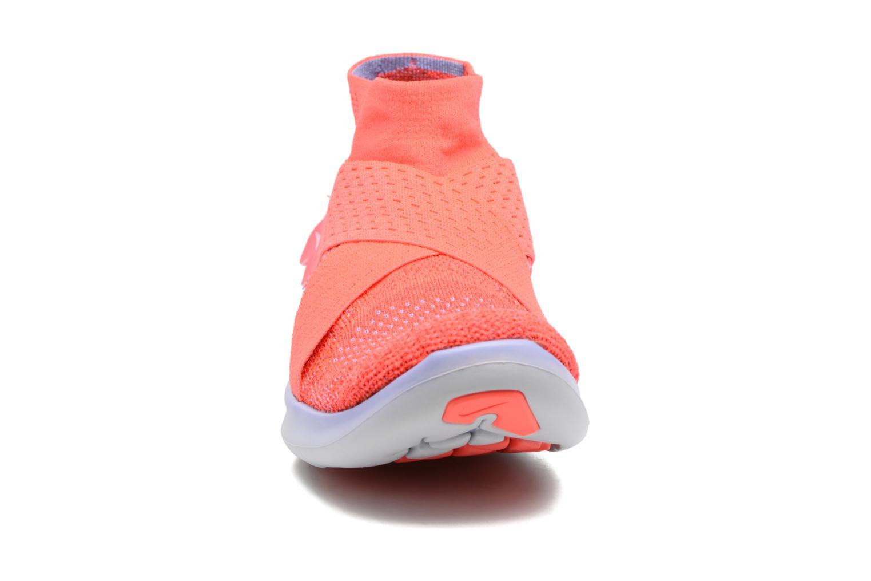 Chaussures de sport Nike W Nike Free Rn Motion Fk 2017 Rouge vue portées chaussures