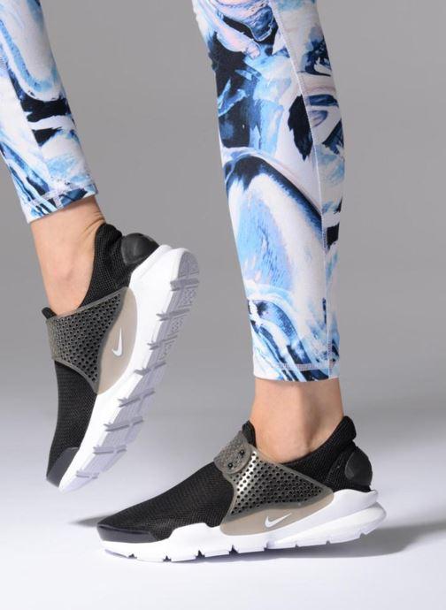 Baskets Nike Wmns Solay Thong Print Noir vue bas / vue portée sac