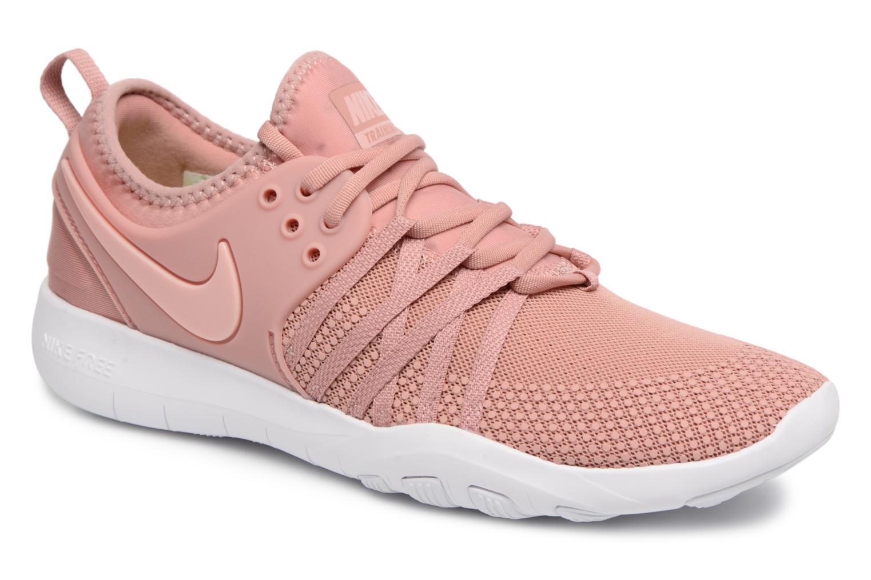 Chaussures de sport Nike Wmns Nike Free Tr 7 Rose vue détail/paire