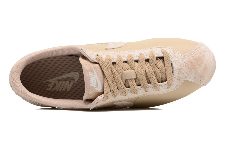 Baskets Nike Wmns Classic Cortez Prem Beige vue gauche