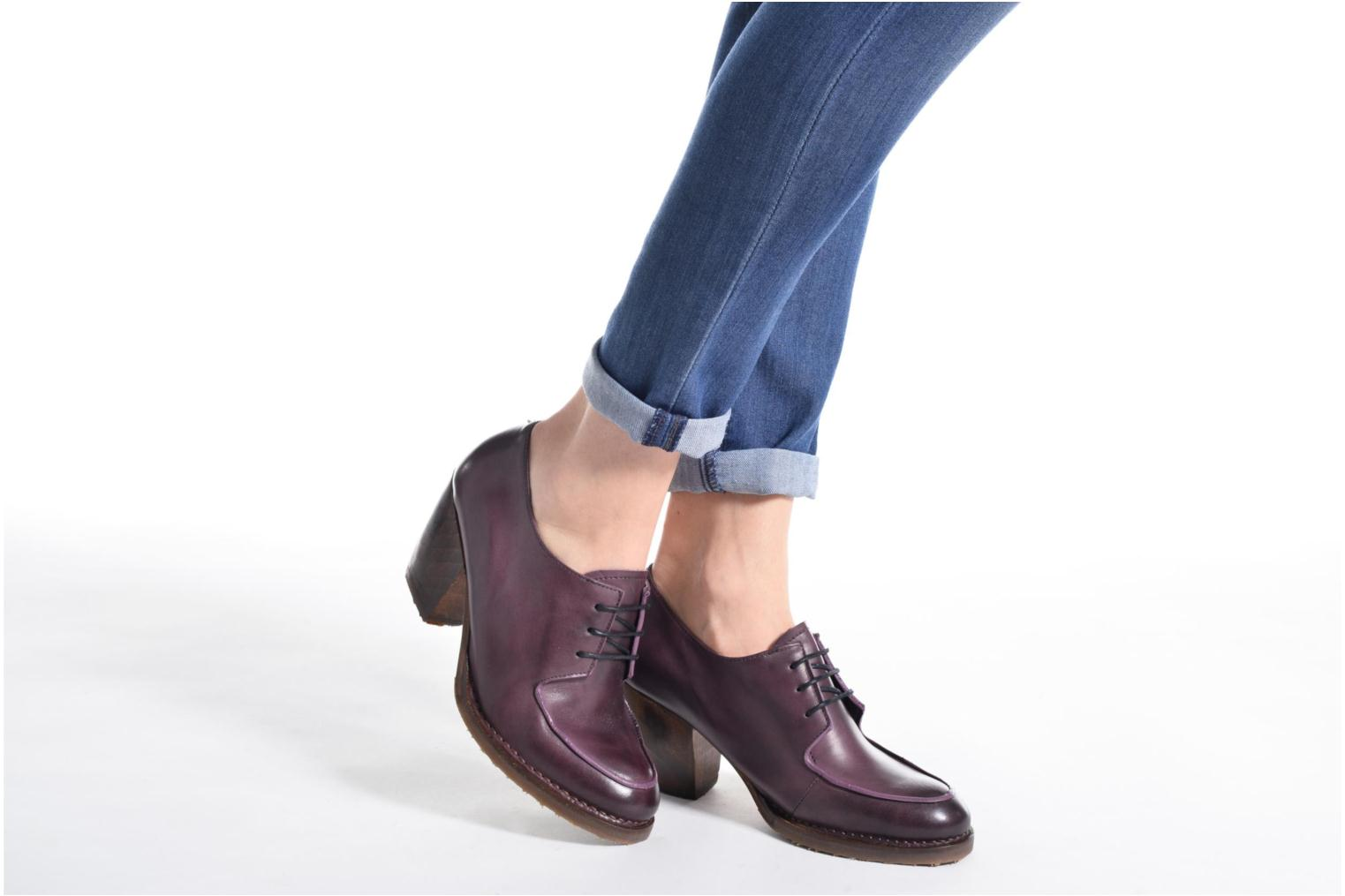 Lace-up shoes Neosens Verdil S516 Purple view from underneath / model view