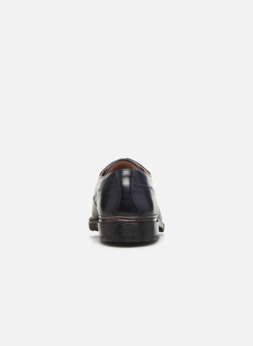 Zapatos con cordones Neosens Ferron S887 Azul vista lateral derecha