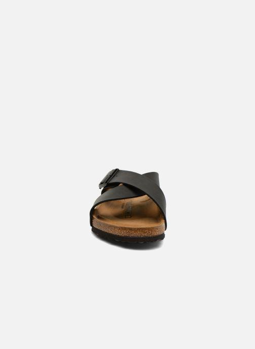 Sandales et nu-pieds Birkenstock Tunis Flor Men Noir vue portées chaussures