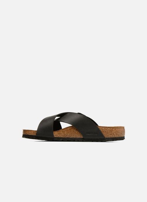 Sandales et nu-pieds Birkenstock Tunis Flor Men Noir vue face