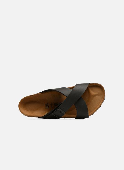 Sandales et nu-pieds Birkenstock Tunis Flor Men Noir vue gauche
