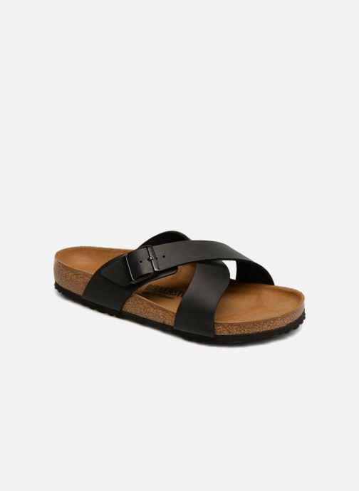 Sandaler Birkenstock Tunis Flor Men Sort detaljeret billede af skoene
