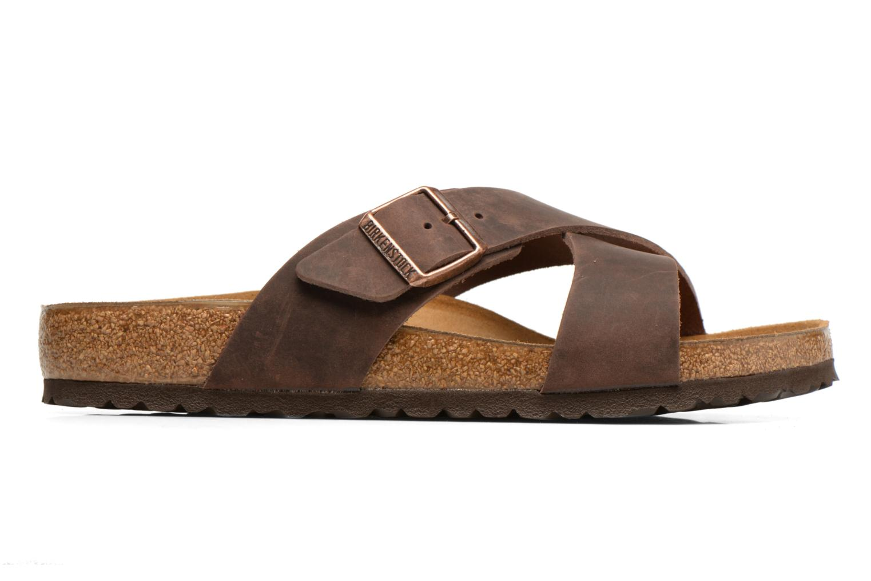 Sandales et nu-pieds Birkenstock Tunis Marron vue derrière