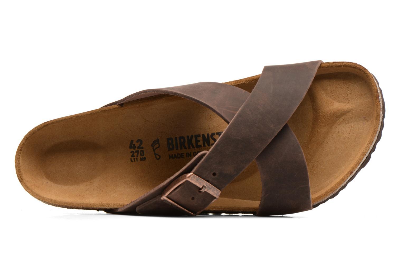 Sandales et nu-pieds Birkenstock Tunis Marron vue gauche