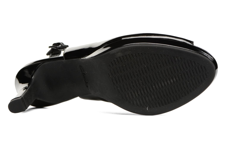 Sandali e scarpe aperte Clarks Mayra Blossom Nero immagine dall'alto