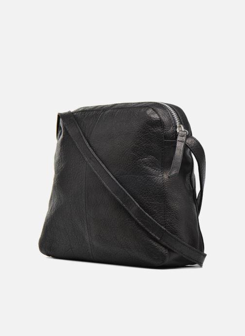 Sacs pochettes Pieces Dacil Leather Cross Over Bag Exp Noir vue droite